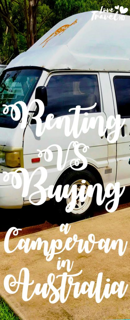 Buying vs renting a campervan in Australia